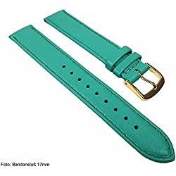 Miami Replacement Band Watch Band kalf nappa Strap turquoise 22563G, width:24mm