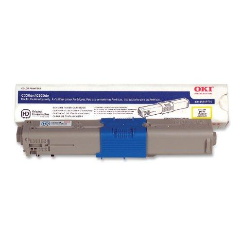 OKI 444697013000Seiten Gelb Laser Toner Cartridge-Tonerkartusche (gelb, C330DN Laser und Digital Color Drucker Digital Color Drucker MC361MFP C530dn MC561MFP, 1Stück, Laser Kartusche; 3000Seiten, Laser (S)) -