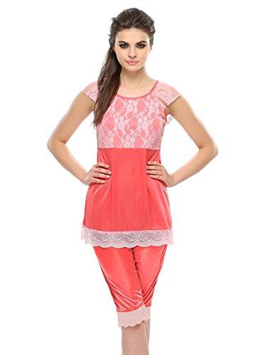 Clovia - Chemise de nuit - Femme Rose - Rose