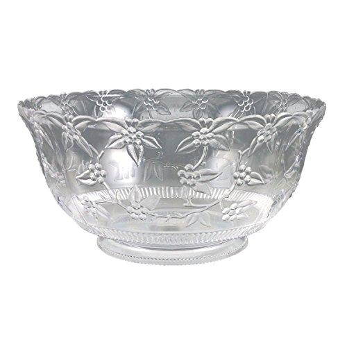 Crystalware Maryland Plastics Large Punch Bowl, 12 quart, Clear by Crystalware 12 Quart Punch Bowl