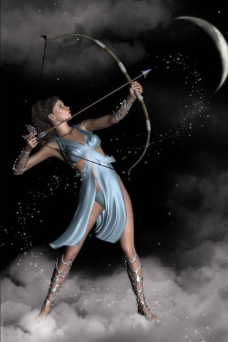 diana-artemis-the-huntress-in-the-night-sky-with-a-crescent-moon-journal-150-page-lined-notebook-dia