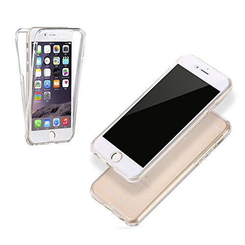 Hippolo Custodia Full body Per iPhone 5S/SE, 360 TPU Crystal Clear Case Custodia Cover Protettivo Per iPhone 5S/SE Per iPhone 7 Plus 5.5