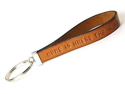 Schlüsselanhänger Leder personalisiert mit Wunschtext Art. 14 (Leder Personalisierte)