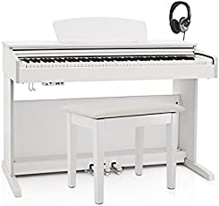 DP-10X Digitalpiano von Gear4music weiß im Paket mit Klavierbank