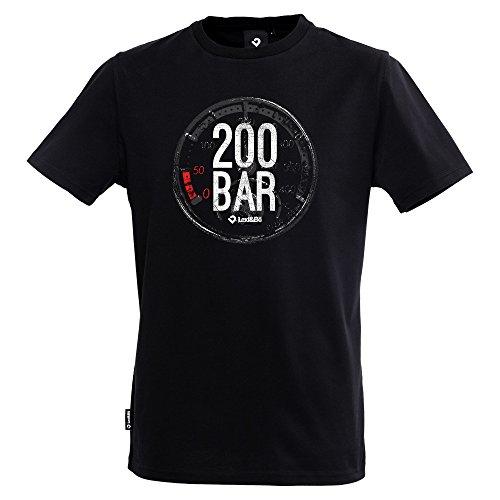 Lexi&Bö T-Shirt Taucher Tauchen Herren 200 Bar aus Hochwertiger Bio-Baumwolle Fair produziert in Portugal Schwarz XL