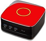 eMini NUC Mini PC, Intel Celeron, 8GB RAM, 1 TB HDD, Red Colour