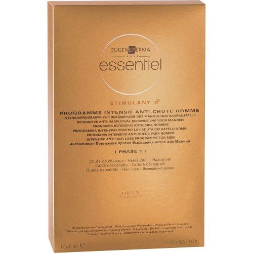 Essentiel - Programme Intensif Antichute Homme - Chute de Cheveux - 12x6 ml