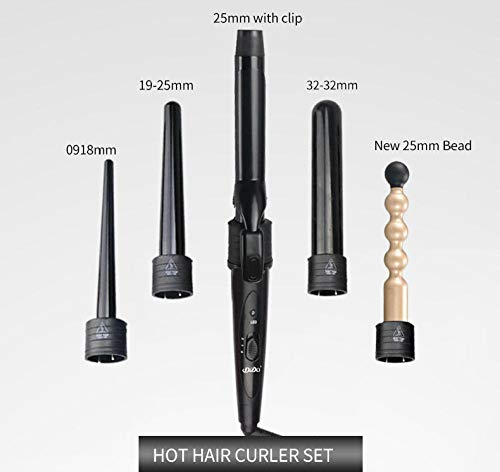 5-in-1-Rohr Lockenstab Werkzeug PTC Fieber schnelles Erhitzen Multifunktions-Lockenwickler mit Clips Verbrühschutzkappe einfach zu bedienen