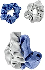 Willsea Fashion Satin Hair Scrunchies 2pcs Elastic Hair Tie Band Silk like Cotton Hair Accessories, Scrunchy H