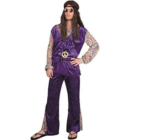 Hippie Männer Deluxe Kostüm Fasching Karneval 70er Schlager Schlagermove Boland (Deluxe Kostüm Männer)