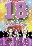 Archie Geburtstagskarte zum 18. Geburtstag Junge Mädchen lila Glückwunschkart...
