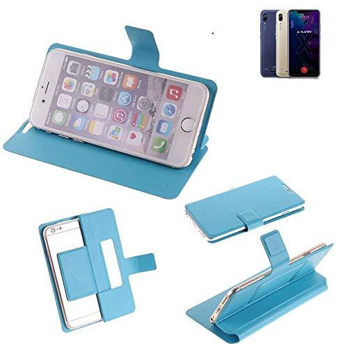 K-S-Trade Flipcover für Allview Soul X5 Style Schutz Hülle Schutzhülle Flip Cover Handy case Smartphone Handyhülle blau