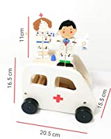 Wooden Ambulance car including two Flexi characters (3+ year)