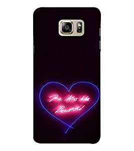 EPICCASE Beautiful Kiss Mobile Back Case Cover For Samsung Note 6 (Designer Case)