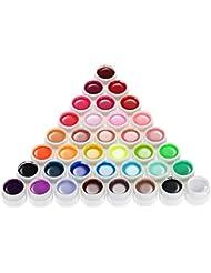 Anself Couleur 36 Nail Art Pigment Set UV Gel colle solide polonais