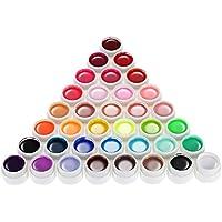 Anself 36 Color Art-Pigmentos Set UV Gel Polaco Sólido Pegamento de Uñas