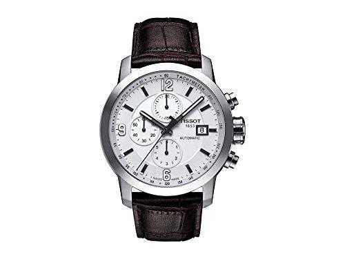 Tissot Herren-Armbanduhr Chronograph Automatik Leder T055.427.16.017.00