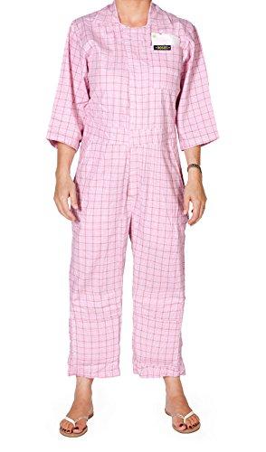 Rosies Damen-Overall im Rosa Karomuster Latzhosen Gartenkleidung 38 40 42 44 46