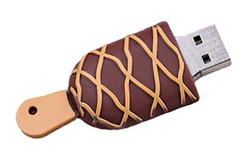 Hosaire Memoria flash USB de 4GB/8GB/16GB/32GB,USB 2.0 Flash Drive de USB Almacenamiento de datos externo, Diseño de forma de helado(16GB)