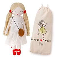 Hearts of Yarn Plush Mila Fashion Doll for Girls Soft Sleeping & Cuddle Buddy for Toddlers, Infants & Babies 48cm Tall Extra Large, Handmade First Baby Doll & Toy Cute Nursery Room
