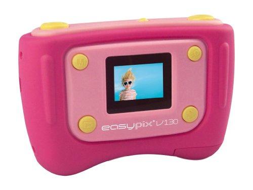 Easypix V130 Digitalkamera (1,3 Megapixel, 4-fach digitaler Zoom, 3,25 cm Display) pink