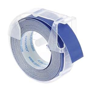 Dymo etichette a rilievo in vinile autoadesive, rotoli da 9 mm x 3 m, stampa bianca su blu, S0898140