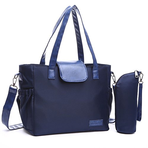 fanhappygo Fashion Retro Damen Nylon Multifunktions Schwangere Mamapaket Stillen Umschlag Schulterbeutel Umhängetaschen blau