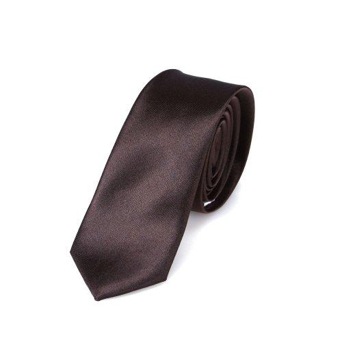 Schmale braune Krawatte - von Hand gefertigt // verschiedene Farben wählbar