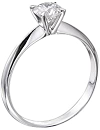 14K Gold / White 1/3ct GIA Certified Diamond Engagement Ring Round Cut F Color SI2 Clarity