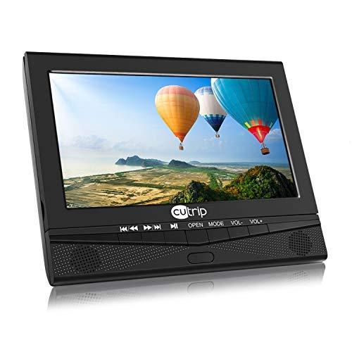 10 Zoll Auto Monitor DVD Player Tragbarer TV System mit Bildschirm Fernbedienung KFZ unterstützt USB SD für Kinder zu Urlaub Camping Zuhause Schwarz