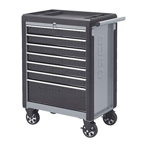 Premium Werkstattwagen Stahl, Schubladeneinlagen mit PVC-Matten, Ablageschale ABS-Kunststoff