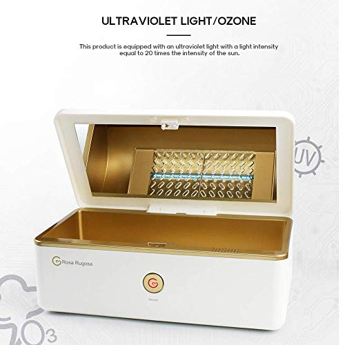 SSHHII UV-Licht-Sterilisator-Box, tragbares Ozondesinfektions-Desinfektionskabinett mit keimtötender Lampe für Nagelzangen, Pinzette, Mobiltelefon, Beauty Tools, USB-Schnittstelle für Zahnbürste