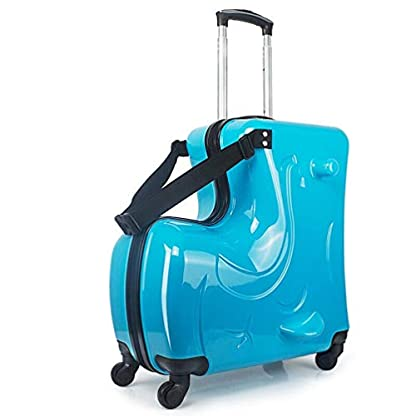 FREEUP-Trolley-Kinderkoffer-20-inch-Kindertrolley-fr-Jungen-ABS-Kindergepck-fr-Reisen-Outdoor-Schule-54x50cmx24cm-Blau