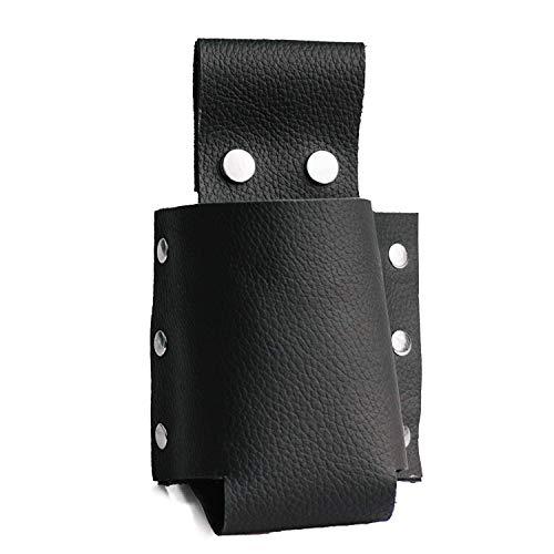 Leather   Universal Bottle Beer Holder Belt/Bag in Black. Easy On Pants -