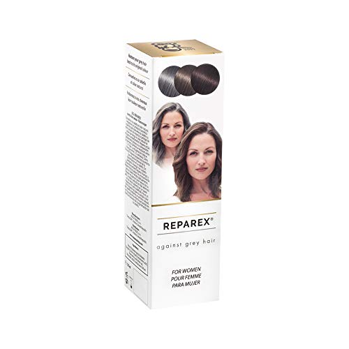 REPAREX Against Grey Hair for Women - Natural Grey Roots and Hair Treatment  - Better than Shampoo or Hair Dye - No more White Hair Coloring - 125ml