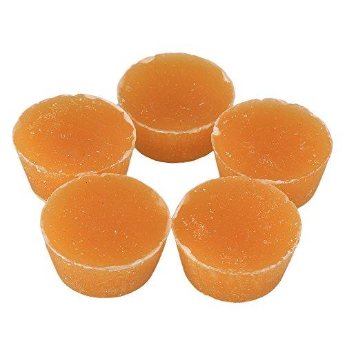 cnbtr gelb gefiltertes Beewax natürlichem Bio reines Bienenwachs Blocks Runde Form 200g für Heimwerker Craft 5Stück