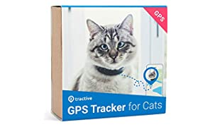 Tractive CAT GPS Tracker with breakaway mechanism - Waterproof cat finder with app and real time GPS tracking