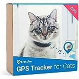 Tractive Traceur GPS pour chats - collier intégré avec mécanisme de rupture. Traceur étanche, retrouver chat avec appli et GPS localisation en temps réel.