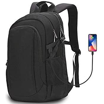 """e9977bd17d Aonsen Sac à Dos d'affaires, 15.6"""" Sac Ordinateur Portable Chargeur USB Sac  d'ordinateur Portable Hommes Femmes résistant à l'eau (Noir)"""