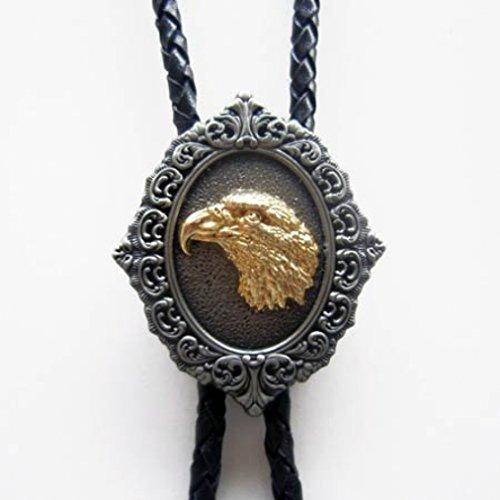Eagle Head Bolo del legame con l'oro di sovrapposizione, Western, Bolotie