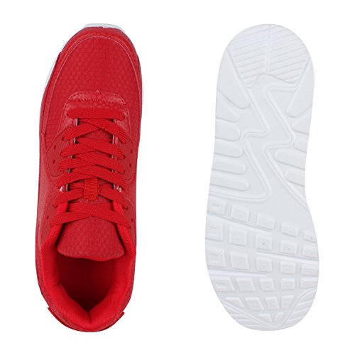Herren Damen Sportschuhe Laufschuhe Runners Sneakers Prints Rot Camargo