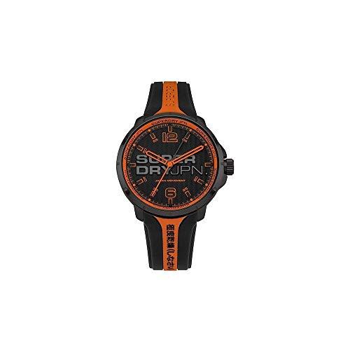 Superdry Herren Analog Quarz Uhr mit Silikon Armband SYG216BO