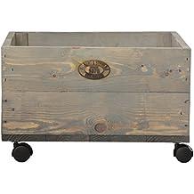 caisse de rangement en bois roulettes. Black Bedroom Furniture Sets. Home Design Ideas