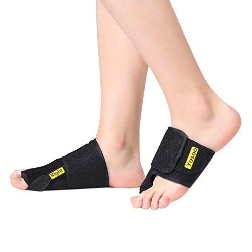Alluce valgo correttore separatore toe notturno bunion splints sollievo del dolore divaricatore dita piedi raddrizza alluci protezione di hallux valgus , 1 paio