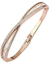 Mes-Bijoux-Bracelets Bracelet jonc Plaqué or rose 750 000 18ct Cadeau femme 0565ffb095ce