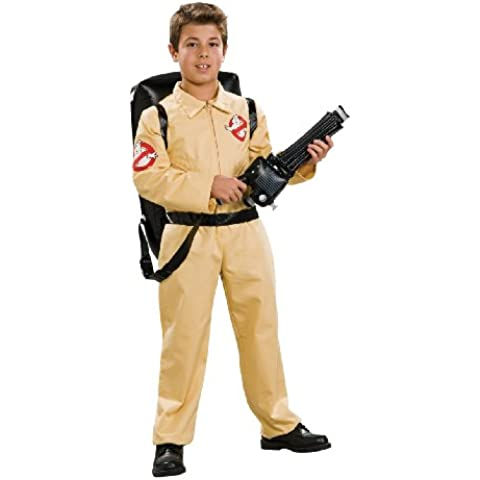 Ghostbusters tm Deluxe Costume & Inflatable Backpack. Size Medium (disfraz)