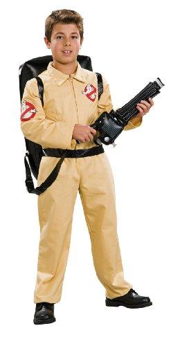 Ghostbusters tm Overall Kostüm mit Aufblasbarem Rucksack. Ordnen Sie nach der Größe Große 8-10 Jahre an