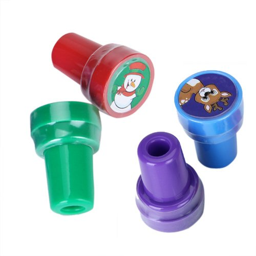 SuntekStore Online 4pcs Ink Stampers Art Craft Stamps w/ Christmas Theme