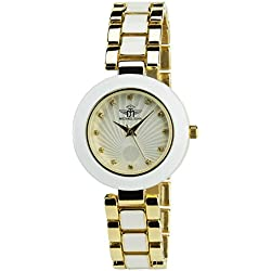 Women's Watch MICHAEL JOHN Silver Quartz Steel Case Analogue Display Steel Band White Gold
