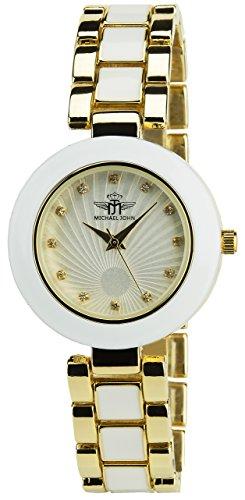 michael-john-orologio-donna-argento-quarzo-cassa-spessore-display-analogico-cinturino-acciaio-bianco